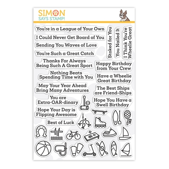 Simon Says Clear Stamps WHAT A GOOD SPORT OUTDOORS sss202195 Stamptember