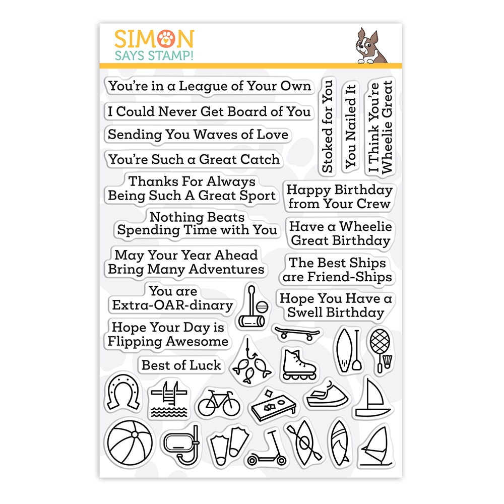 Simon Says Clear Stamps WHAT A GOOD SPORT OUTDOORS sss202195 Stamptember zoom image