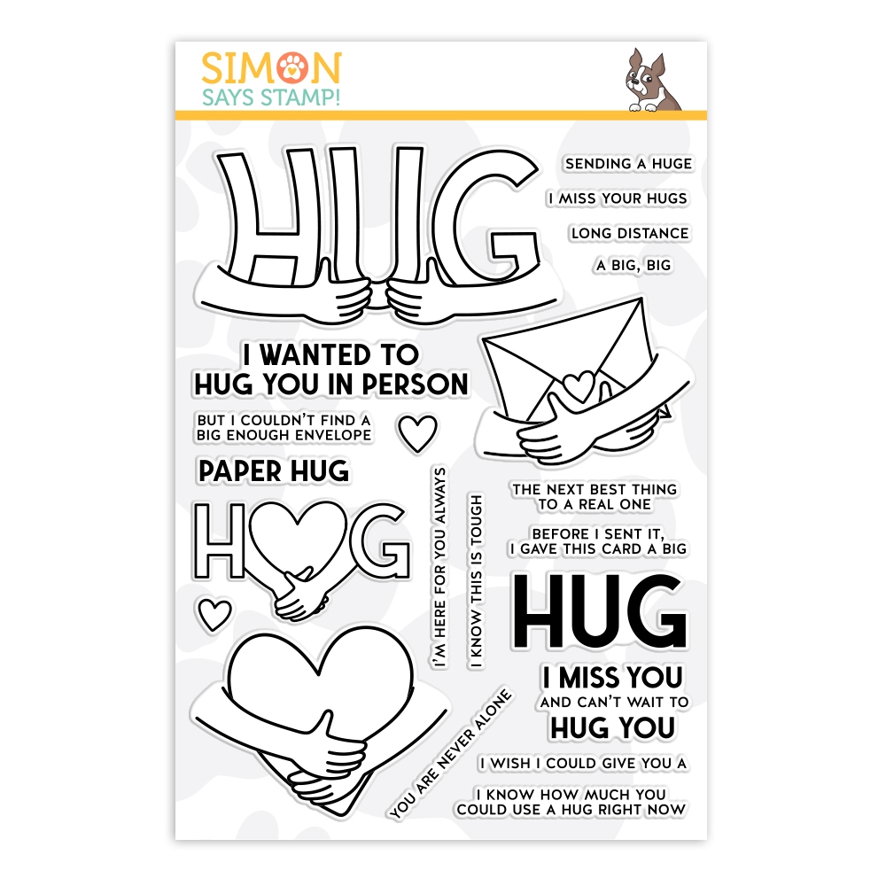 Simon Says Clear Stamps PAPER HUG sss202177c Stamptember zoom image