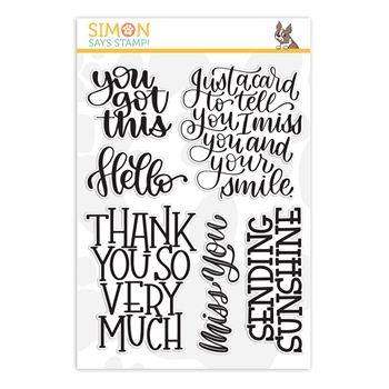 RESERVE Simon Says Clear Stamps XL GREETINGS sss201150 Stamptember
