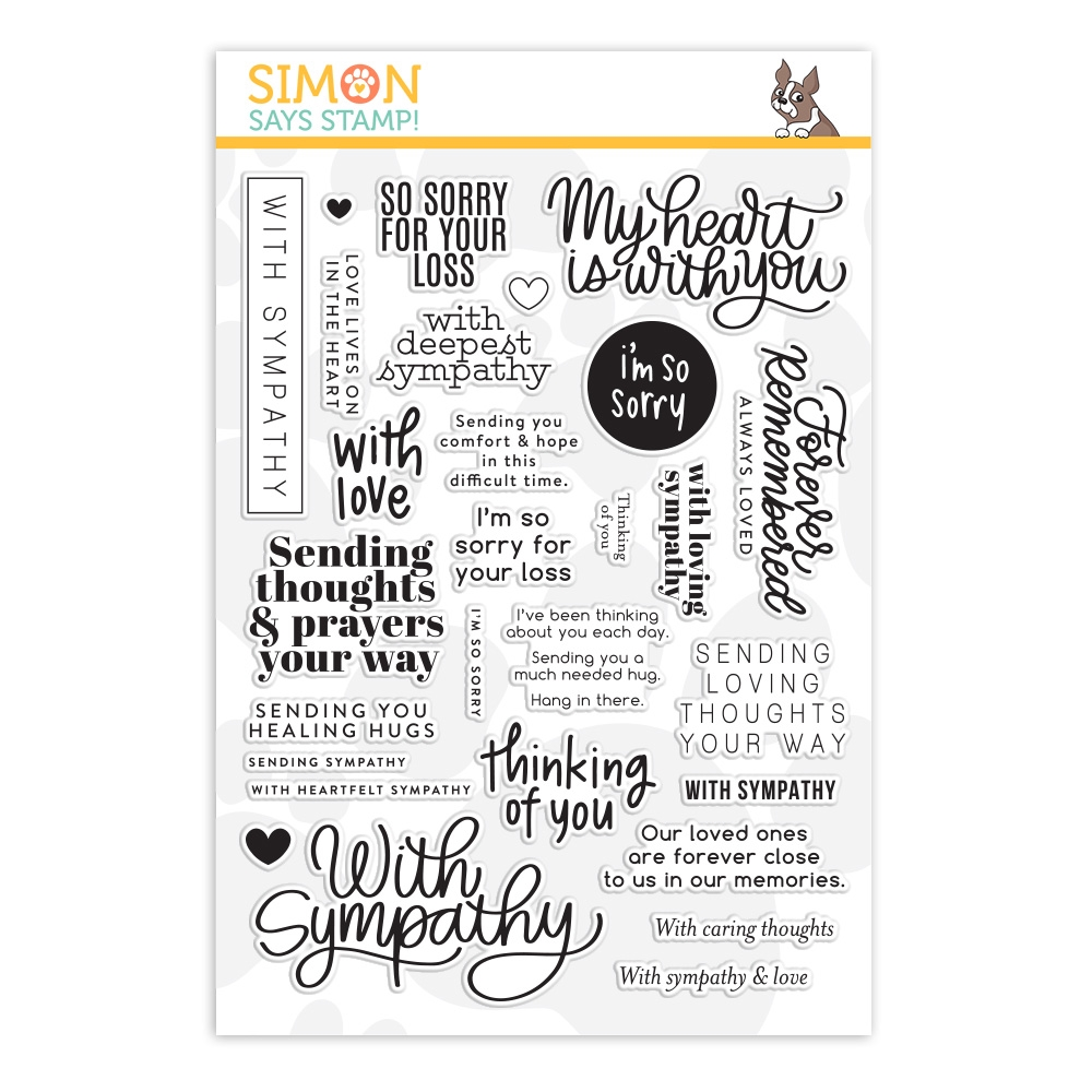 Simon Says Clear Stamps SYMPATHY GREETINGS MIX sss202167 Stamptember zoom image