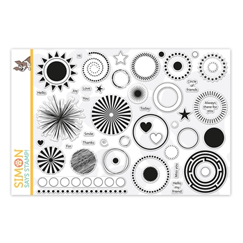 RESERVE Simon Says Clear Stamps MIX AND MATCH CIRCLES sss202165 Stamptember