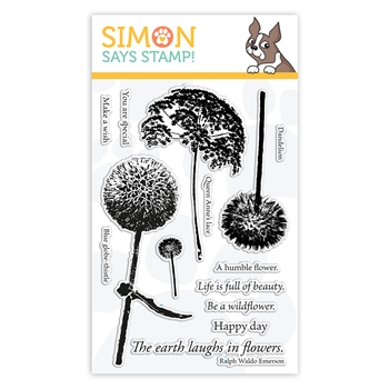 Simon Says Clear Stamps LAUGH IN FLOWERS sss102163 Stamptember