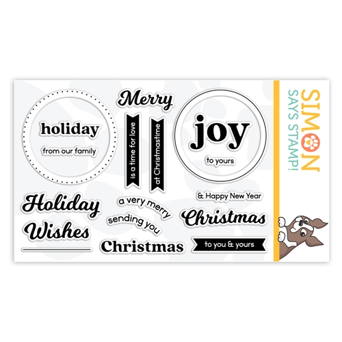 Simon Says Clear Stamps CIRCLE SENTIMENTS CHRISTMAS sss302198 Stamptember Preview Image