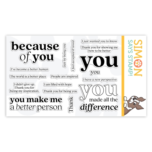Simon Says Clear Stamps BECAUSE OF YOU sss302179 Stamptember Preview Image