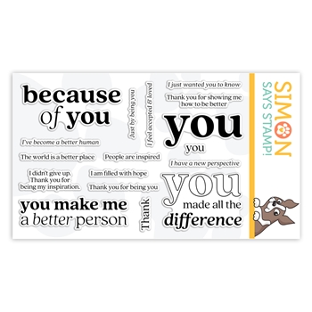Simon Says Clear Stamps BECAUSE OF YOU sss302179 Stamptember