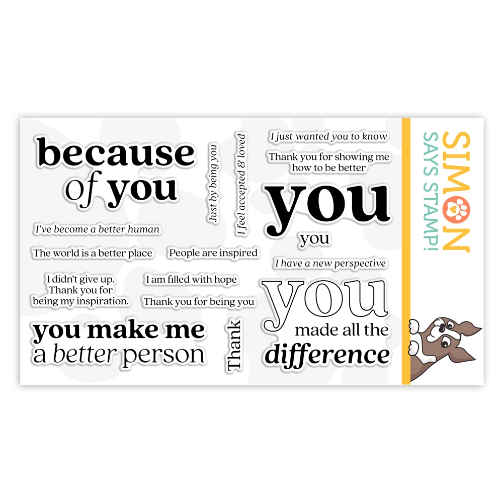 Simon Says Clear Stamps BECAUSE OF YOU sss302179 Stamptember zoom image