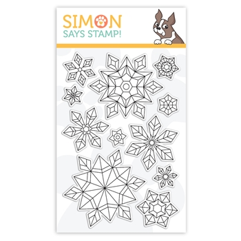 Simon Says Clear Stamps PRISMATIC SNOWFLAKES sss302170c Stamptember