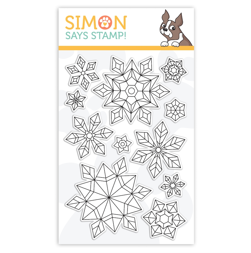 Simon Says Clear Stamps PRISMATIC SNOWFLAKES sss302170c Stamptember zoom image