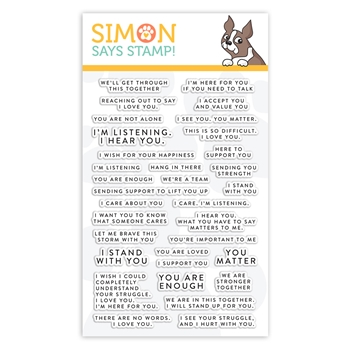 Simon Says Clear Stamps TINY WORDS SUPPORT sss102152 Stamptember