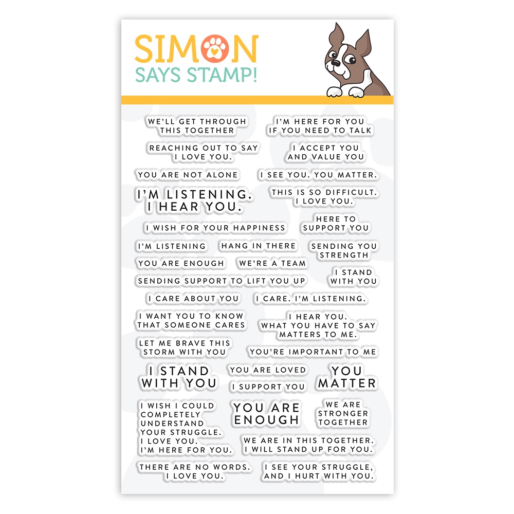 Simon Says Clear Stamps TINY WORDS SUPPORT sss102152 Stamptember zoom image