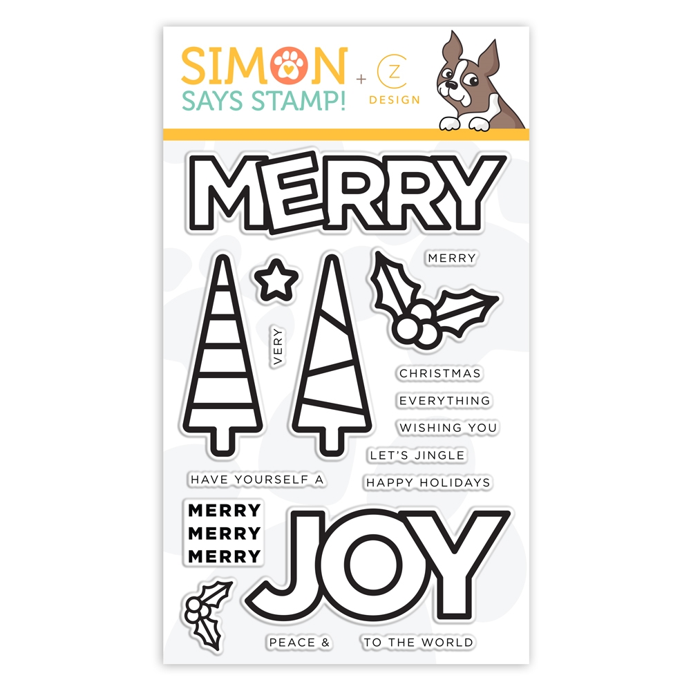 CZ Design Clear Stamps CHUNKY CHRISTMAS cz361c Stamptember zoom image
