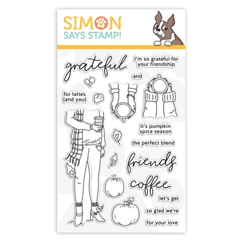 Simon Says Clear Stamps PUMPKIN SPICE SEASON sss302174c Stamptember