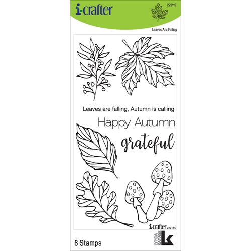 i-Crafter LEAVES ARE FALLING Clear Stamps 222115 Preview Image