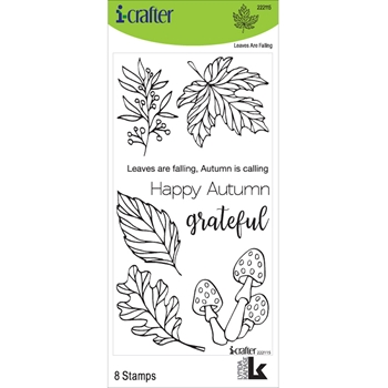 i-Crafter LEAVES ARE FALLING Clear Stamps 222115