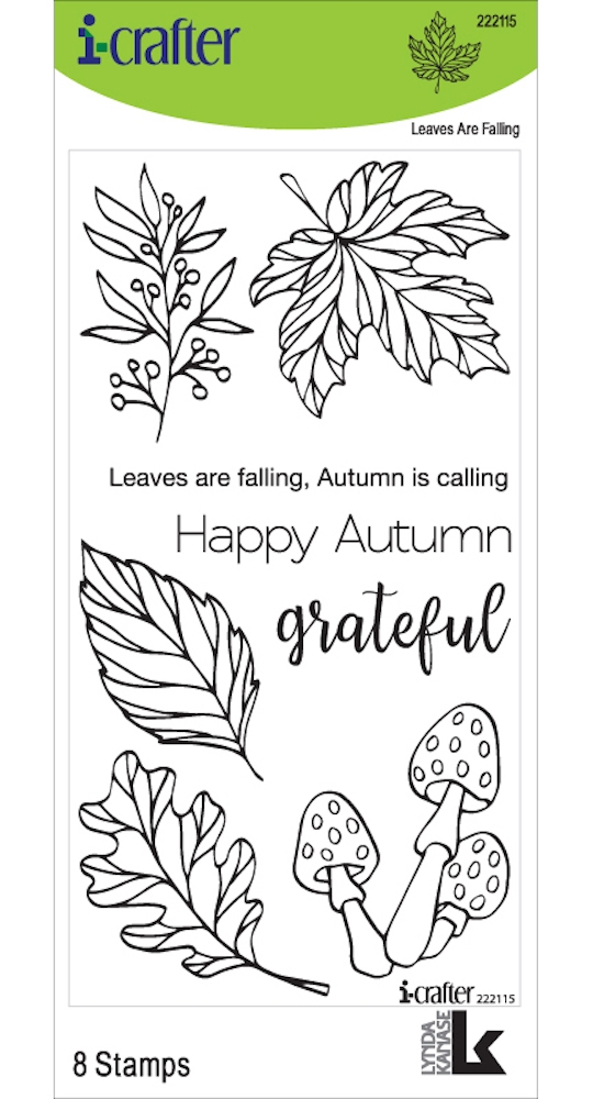i-Crafter LEAVES ARE FALLING Clear Stamps 222115 zoom image