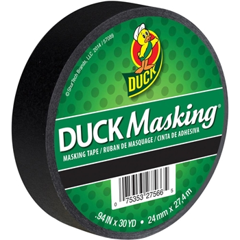 Duck BLACK Masking Tape 326001