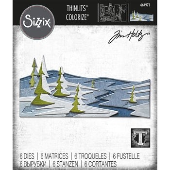 RESERVE Tim Holtz Sizzix SNOWSCAPE Colorize Thinlits Dies 664971