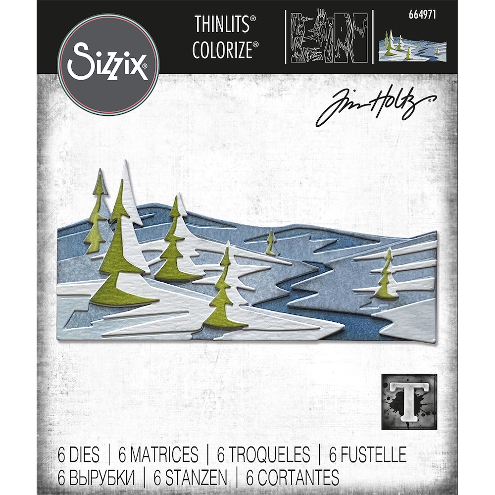 Tim Holtz Sizzix SNOWSCAPE Colorize Thinlits Dies 664971 zoom image