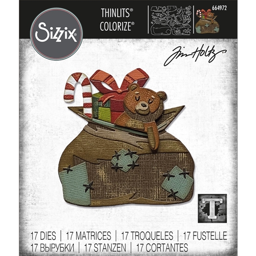 Tim Holtz Sizzix TOYLAND Colorize Thinlits Dies 664972 Preview Image