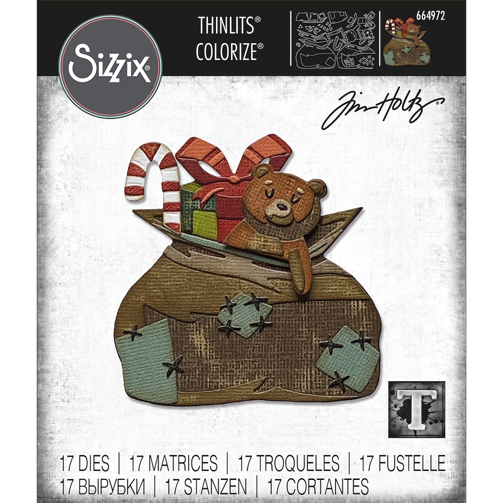 Tim Holtz Sizzix TOYLAND Colorize Thinlits Dies 664972 zoom image