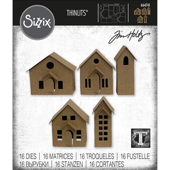 Tim Holtz Sizzix PAPER VILLAGE Thinlits Dies 664741