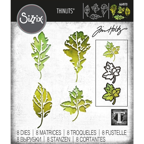 Tim Holtz Sizzix LEAF PRINT Thinlits Dies 664970 Preview Image