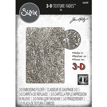 RESERVE Tim Holtz Sizzix ENGRAVED 3D Texture Fades Embossing Folder 664249