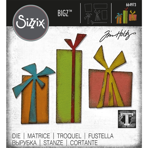 Tim Holtz Sizzix GIFT WRAP Bigz Die 664973 Preview Image