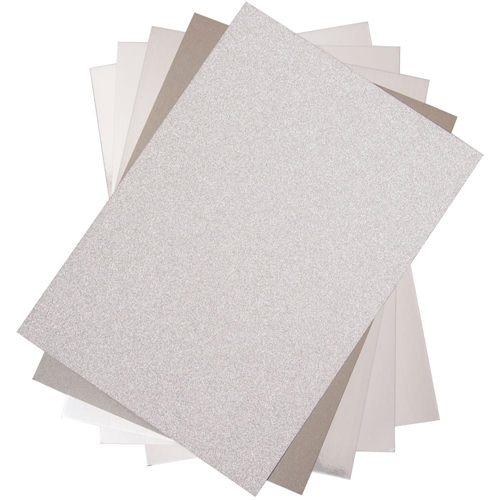 Sizzix SILVER Surfacez Opulent Cardstock 664533 Preview Image