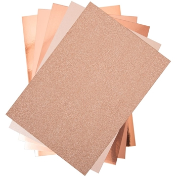Sizzix ROSE GOLD Surfacez Opulent Cardstock 664534