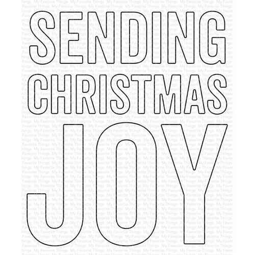 My Favorite Things SENDING CHRISTMAS JOY Die Die-Namics mft1831 Preview Image