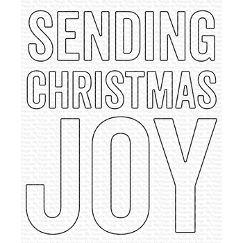 My Favorite Things SENDING CHRISTMAS JOY Die Die-Namics mft1831