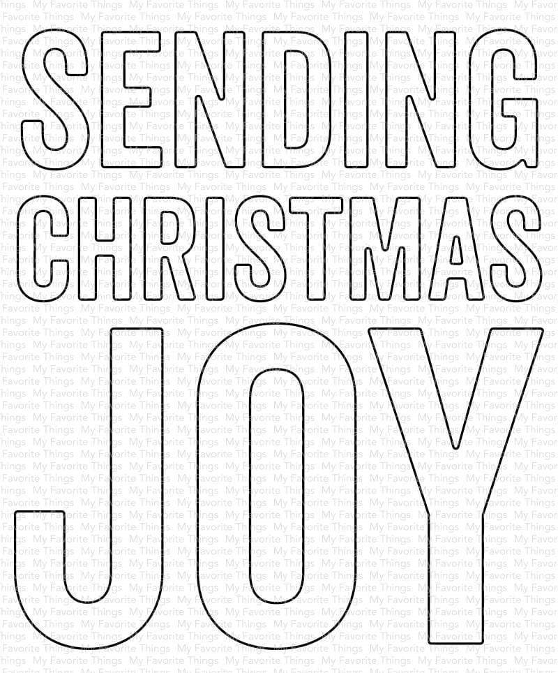My Favorite Things SENDING CHRISTMAS JOY Die Die-Namics mft1831 zoom image
