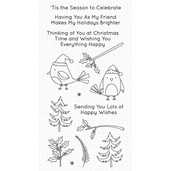 My Favorite Things CHRISTMAS CARDINALS Clear Stamps cs505
