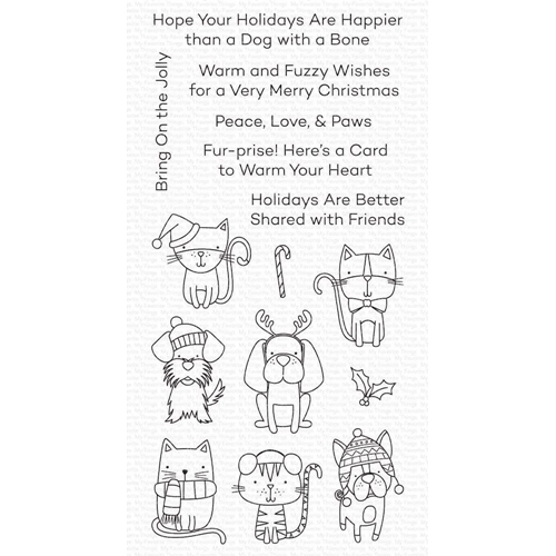 My Favorite Things PEACE LOVE AND PAWS Clear Stamps cs504 Preview Image