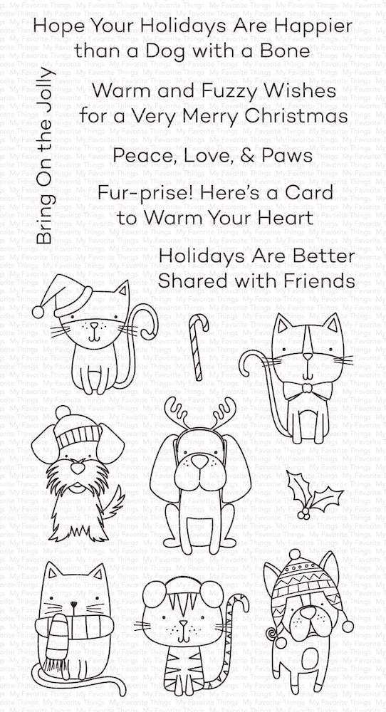 My Favorite Things PEACE LOVE AND PAWS Clear Stamps cs504 zoom image