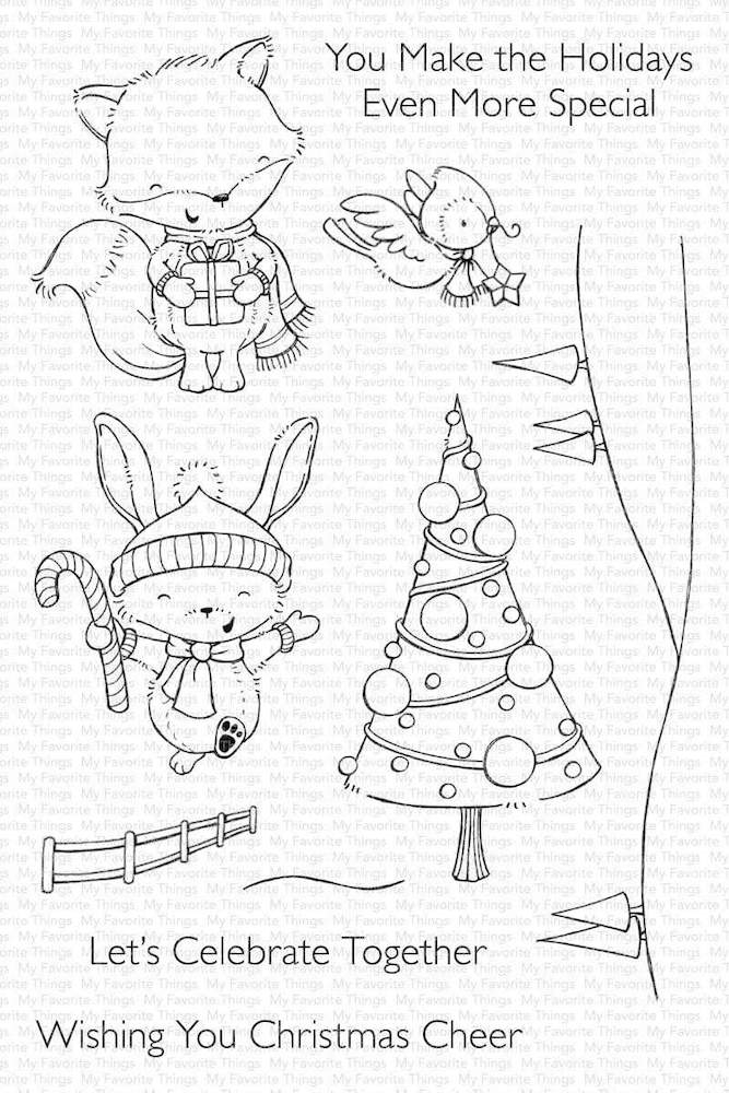 My Favorite Things CHRISTMAS CHEER Clear Stamps sy24 zoom image