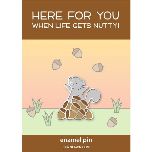 Lawn Fawn NUTS ABOUT YOU Enamel Pin lf2375* Preview Image