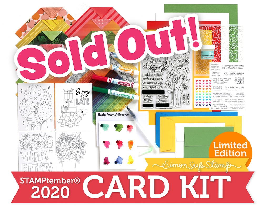 Limited Edition Simon Says Stamp STAMPtember 2020 Card Kit ffssk20 zoom image