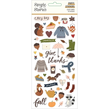 Simple Stories COZY DAYS Puffy Stickers 13521