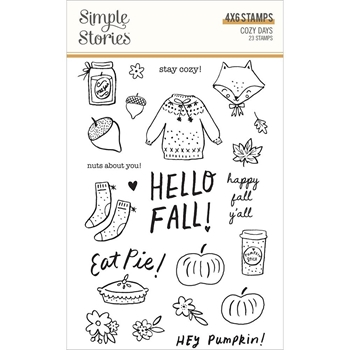 Simple Stories COZY DAYS Clear Stamp Set 13525