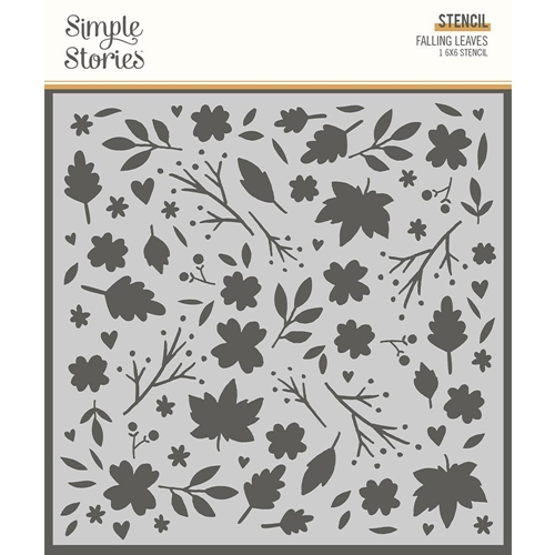 Simple Stories COZY DAYS FALLING LEAVES 6 x 6 Stencil 13526 Preview Image