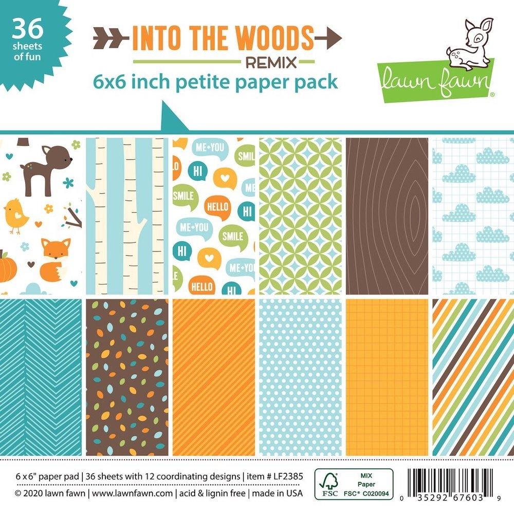 Lawn Fawn Into The Woods Remix Paper Pack