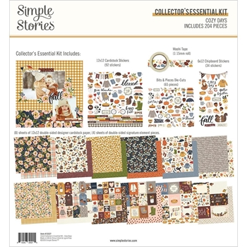 Simple Stories COZY DAYS 12 x 12 Collector's Essential Kit 13527