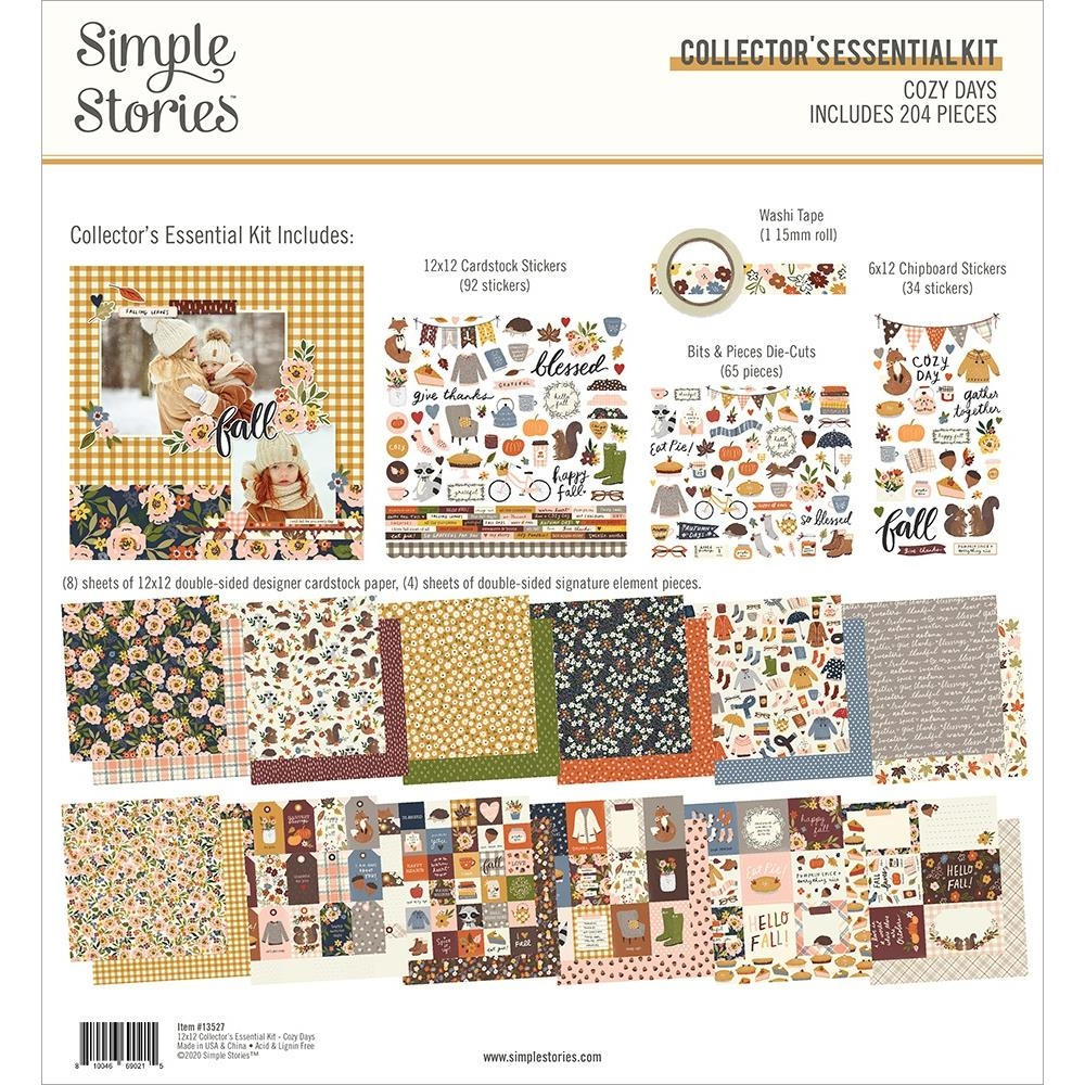 Simple Stories COZY DAYS 12 x 12 Collector's Essential Kit 13527 zoom image