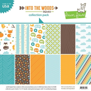 Lawn Fawn COLLECTION PACK Into The Woods Remix lf2386*