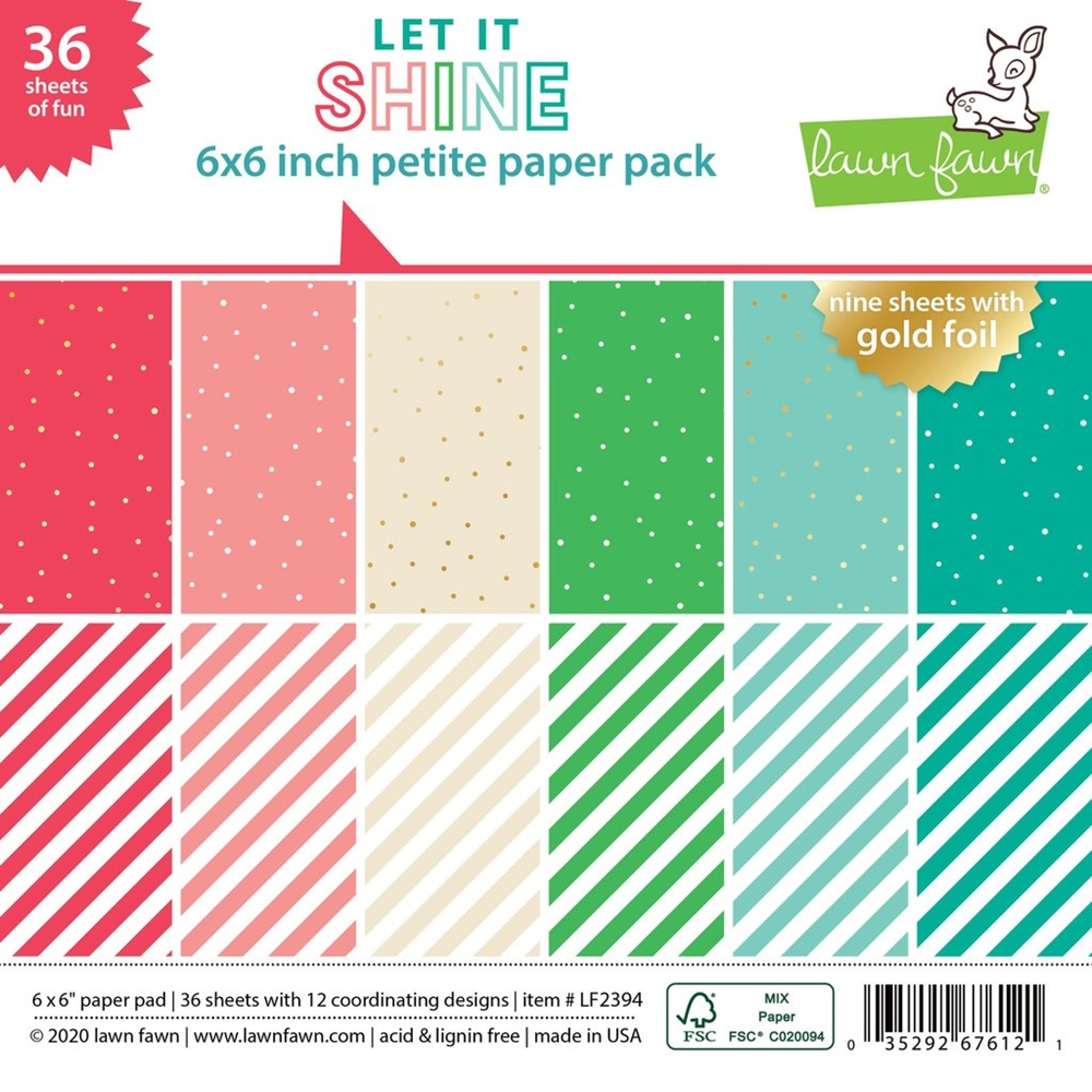Lawn Fawn Let It Shine 6x6 Paper Pack