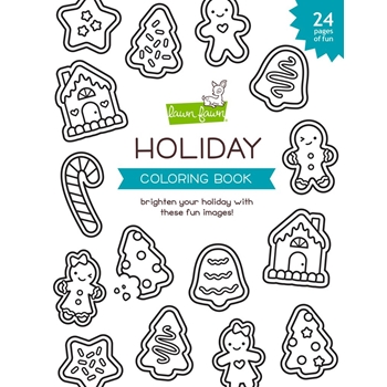 Lawn Fawn HOLIDAY Coloring Book lf2400