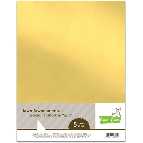 Lawn Fawn GOLD Metallic Cardstock lf2456 Preview Image